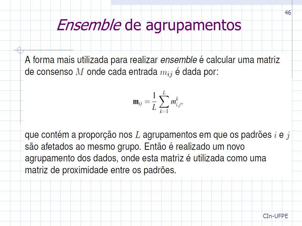 CIn-UFPE 46 Ensemble de agrupamentos