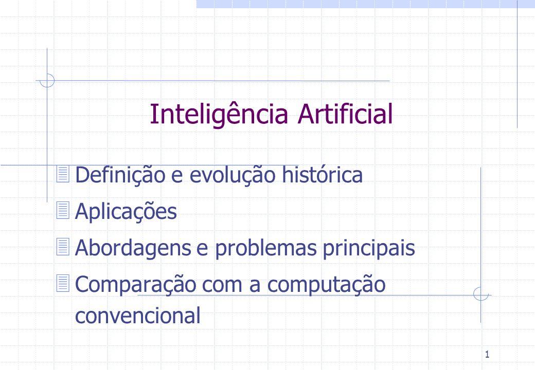 31 Definição: Método probabilista de busca para resolução de problemas (otimização) inspirado na teoria da evolução Idéia: indivíduo = solução faz evoluir um conjunto de indivíduos mais adaptados por cruzamento através de sucessivas gerações fitness function f(i): R ->[0,1] Paradigma Evolutivo