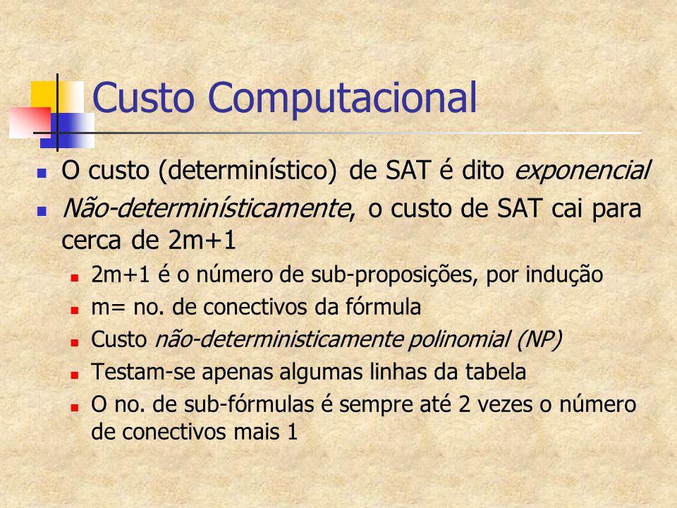 Complexidade Computacional Criação da classe de problemas NP-Completo S.