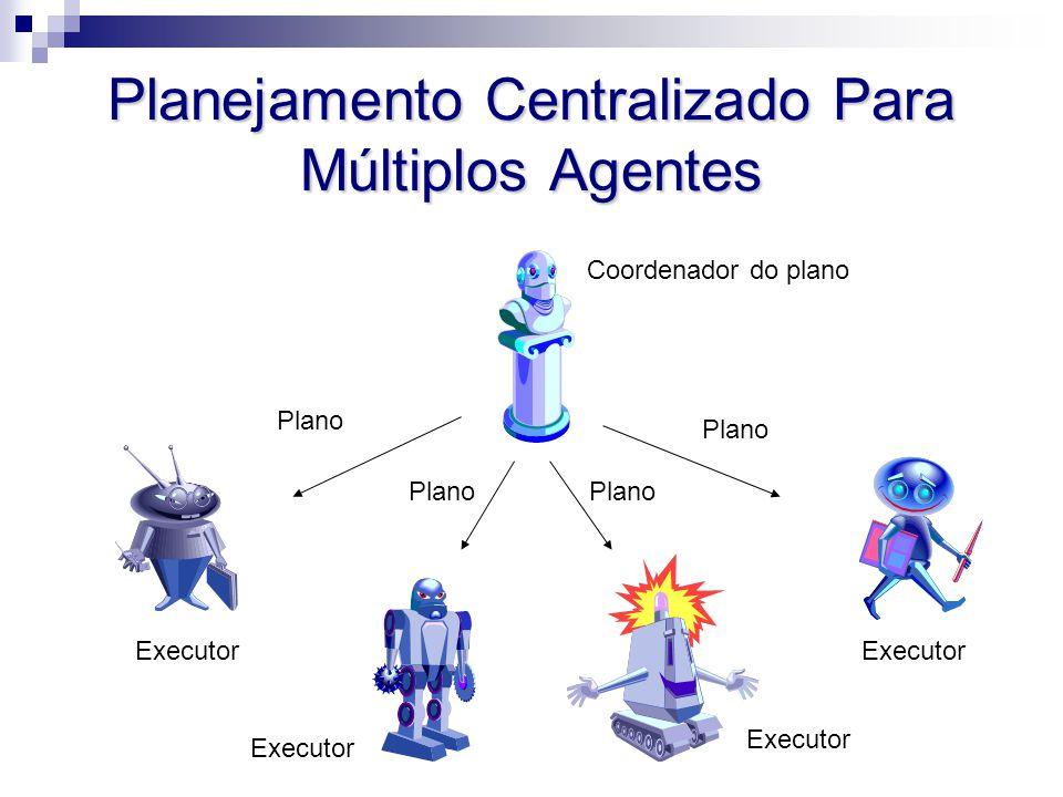 Planejamento Centralizado Para Múltiplos Agentes Coordenador do plano Executor Plano