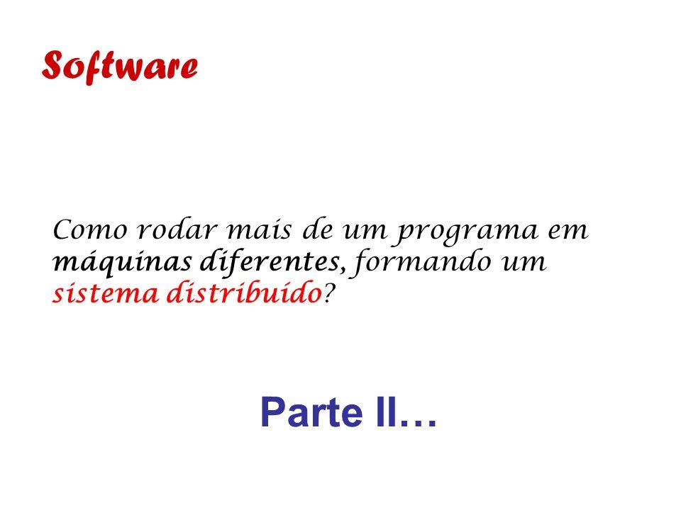 Software Como rodar mais de um programa em máquinas diferentes, formando um sistema distribuído? Parte II…