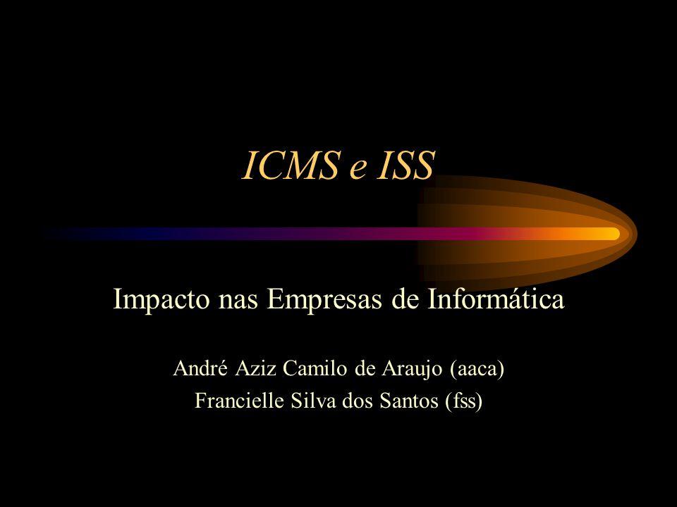 ICMS e ISS Impacto nas Empresas de Informática André Aziz Camilo de Araujo (aaca) Francielle Silva dos Santos (fss)