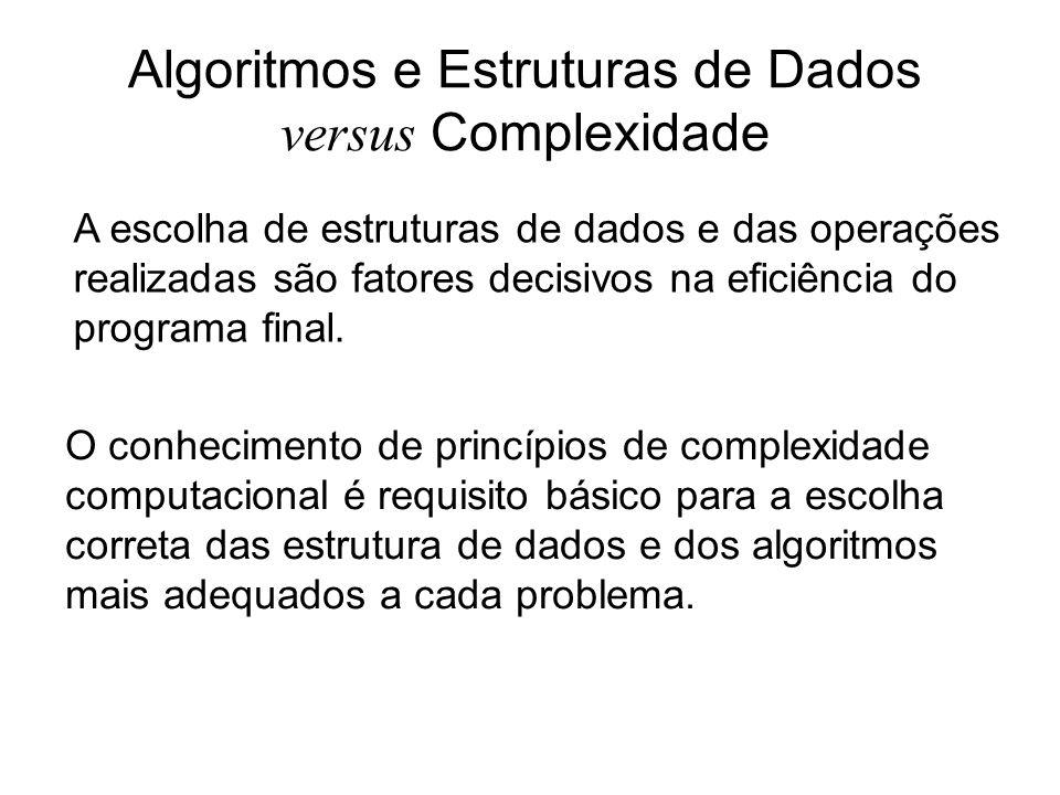 A escolha de estruturas de dados e das operações realizadas são fatores decisivos na eficiência do programa final. Algoritmos e Estruturas de Dados ve