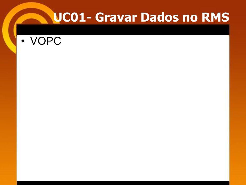 UC01- Gravar Dados no RMS VOPC
