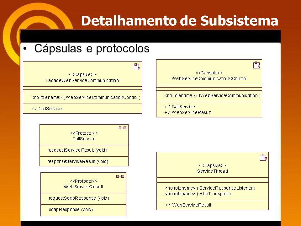 Detalhamento de Subsistema Cápsulas e protocolos