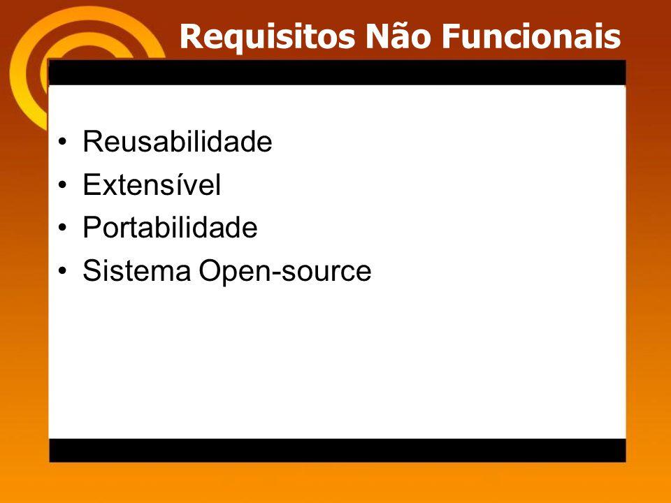 Requisitos Não Funcionais Reusabilidade Extensível Portabilidade Sistema Open-source