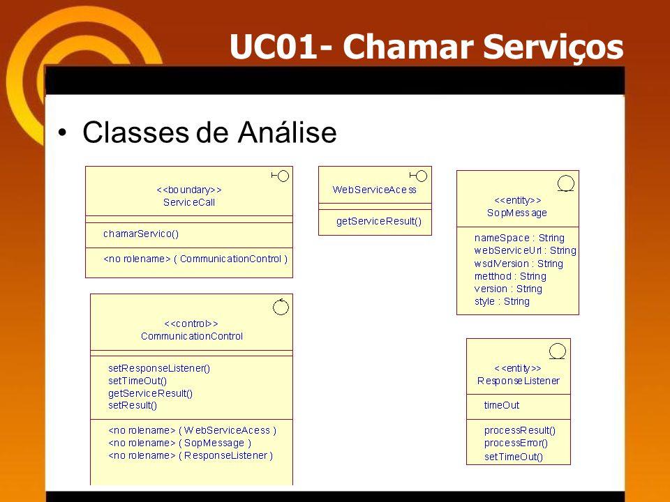 UC01- Chamar Serviços Classes de Análise