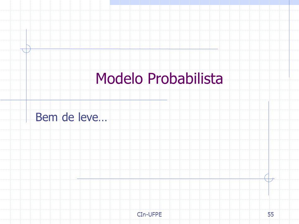 CIn-UFPE55 Modelo Probabilista Bem de leve…