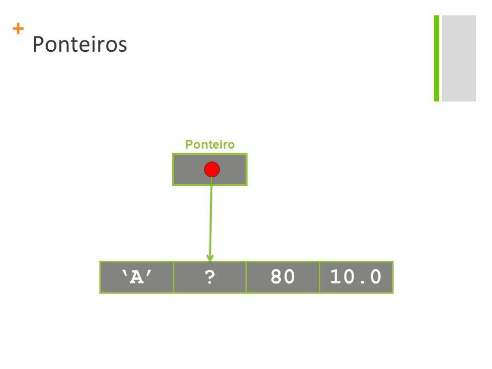 + Ponteiros 'A'?8010.0 Ponteiro