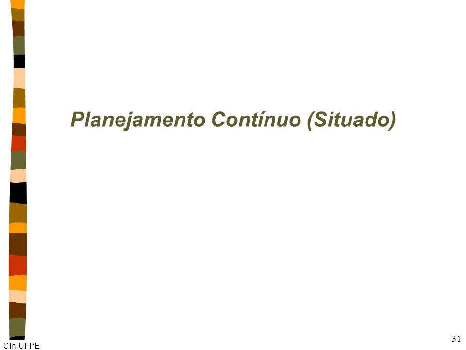 CIn-UFPE 31 Planejamento Contínuo (Situado)