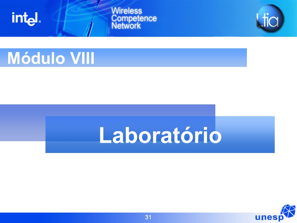 31 Módulo VIII Laboratório