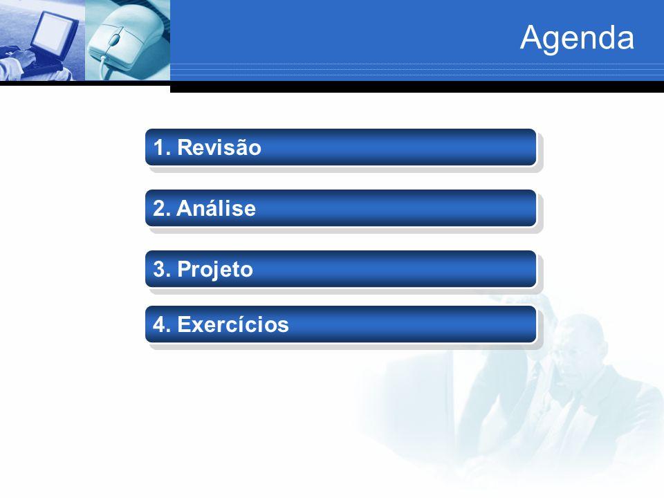 Agenda 2. Análise 3. Projeto 1. Revisão 4. Exercícios