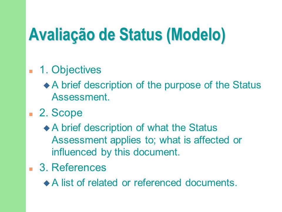 Avaliação de Status (Modelo) n 1.