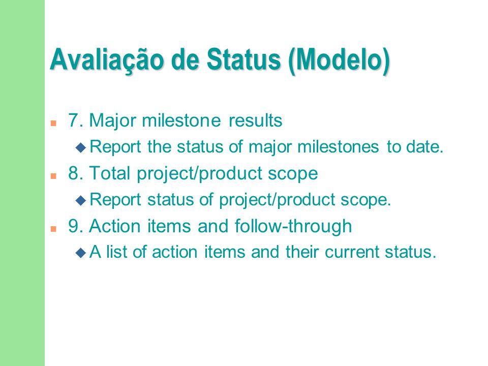 Avaliação de Status (Modelo) n 7.