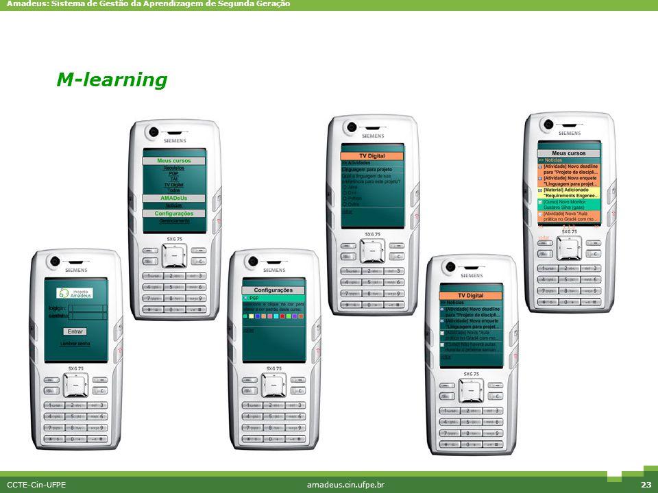 Amadeus: Sistema de Gestão da Aprendizagem de Segunda Geração CCTE-Cin-UFPEamadeus.cin.ufpe.br23 M-learning