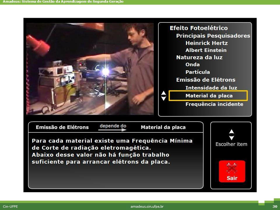 Amadeus: Sistema de Gestão da Aprendizagem de Segunda Geração Cin-UFPEamadeus.cin.ufpe.br30