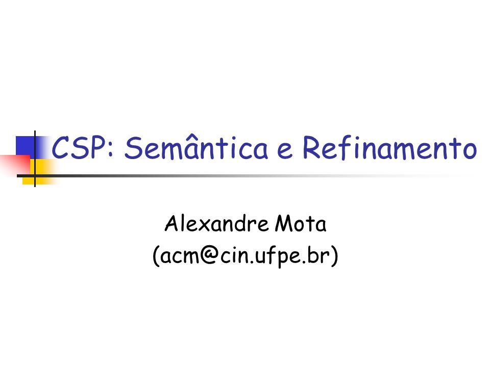 CSP: Semântica e Refinamento Alexandre Mota (acm@cin.ufpe.br)