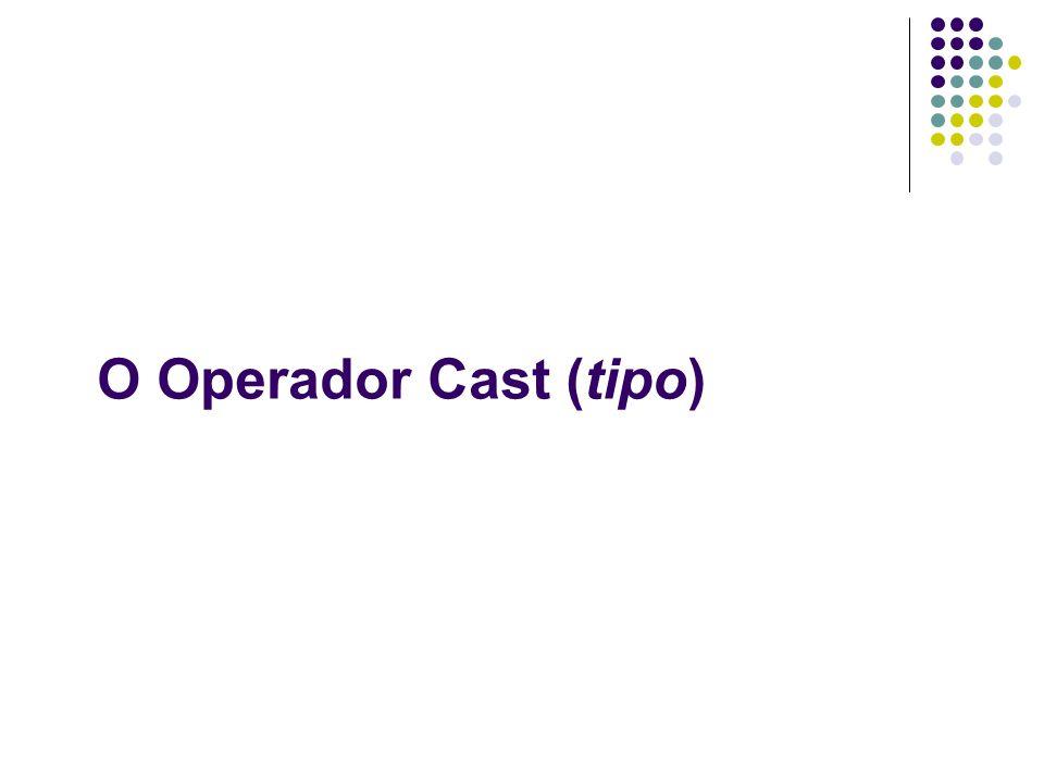 O Operador Cast (tipo)