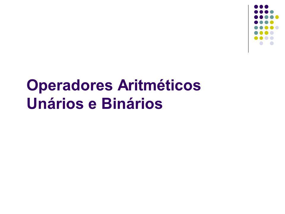 Operações em Bits Ex.: