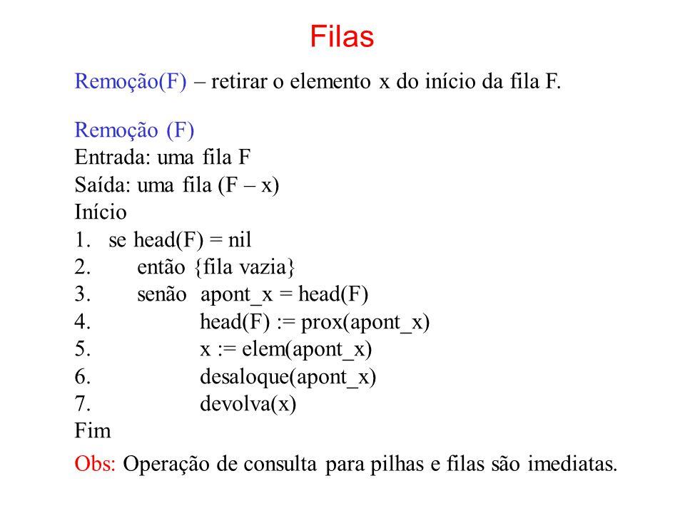 Exercícios 1.Faça os algoritmos para as operações sobre listas simples- mente encadeadas e circulares.