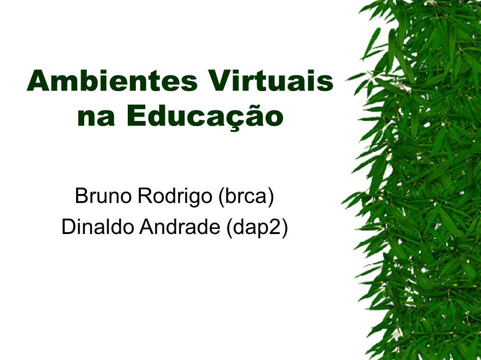 Ambientes Virtuais na Educação Bruno Rodrigo (brca) Dinaldo Andrade (dap2)