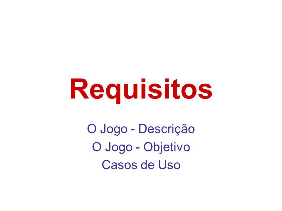 Requisitos O Jogo - Descrição O Jogo - Objetivo Casos de Uso