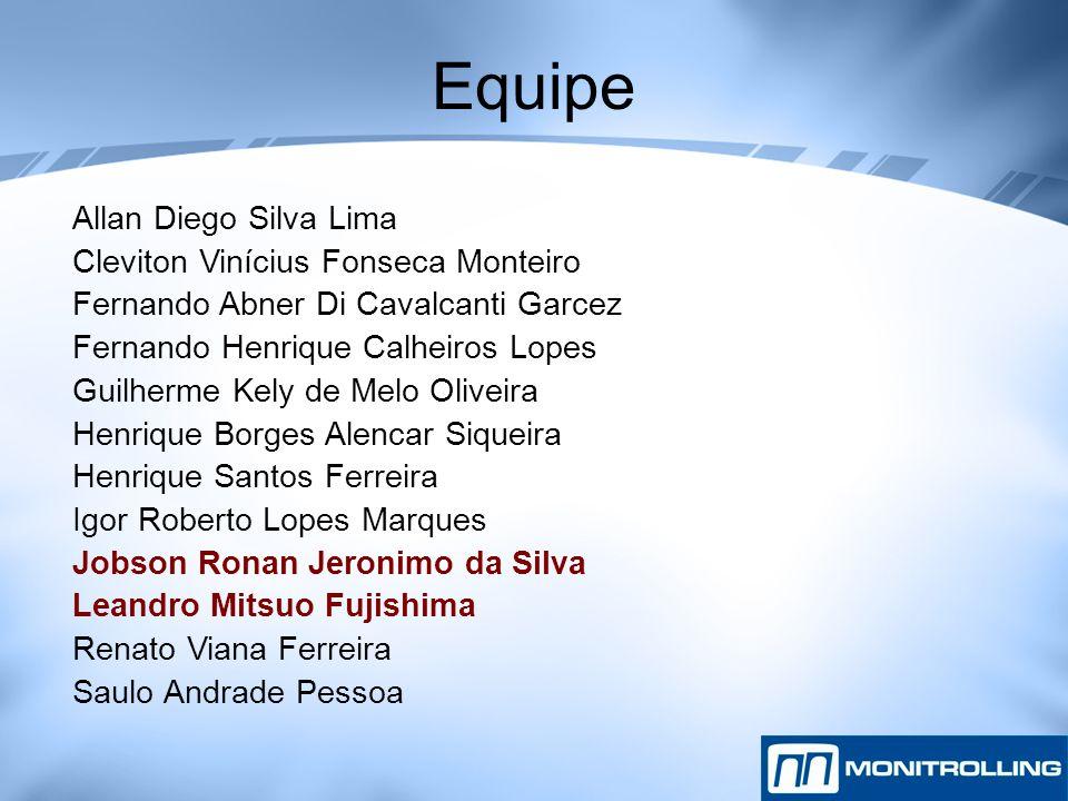 Equipe Allan Diego Silva Lima Cleviton Vinícius Fonseca Monteiro Fernando Abner Di Cavalcanti Garcez Fernando Henrique Calheiros Lopes Guilherme Kely