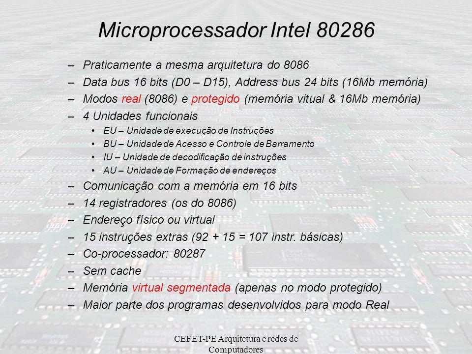 CEFET-PE Arquitetura e redes de Computadores Organização de memória BlocoDados 01Área de memória para o usuário (64 Kb) 02Área de memória para o usuár