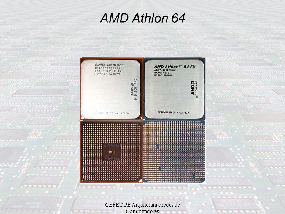 CEFET-PE Arquitetura e redes de Computadores Intel Extreme Edition Perspectivas: Aumento da velocidade do barramento PCI e AGP (média de 3.5 vezes). F