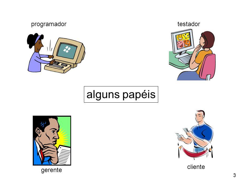 3 programadortestador gerente cliente alguns papéis