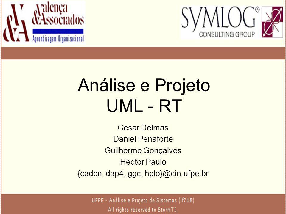 Análise e Projeto UML - RT Cesar Delmas Daniel Penaforte Guilherme Gonçalves Hector Paulo {cadcn, dap4, ggc, hplo}@cin.ufpe.br