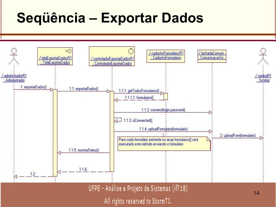 14 Seqüência – Exportar Dados