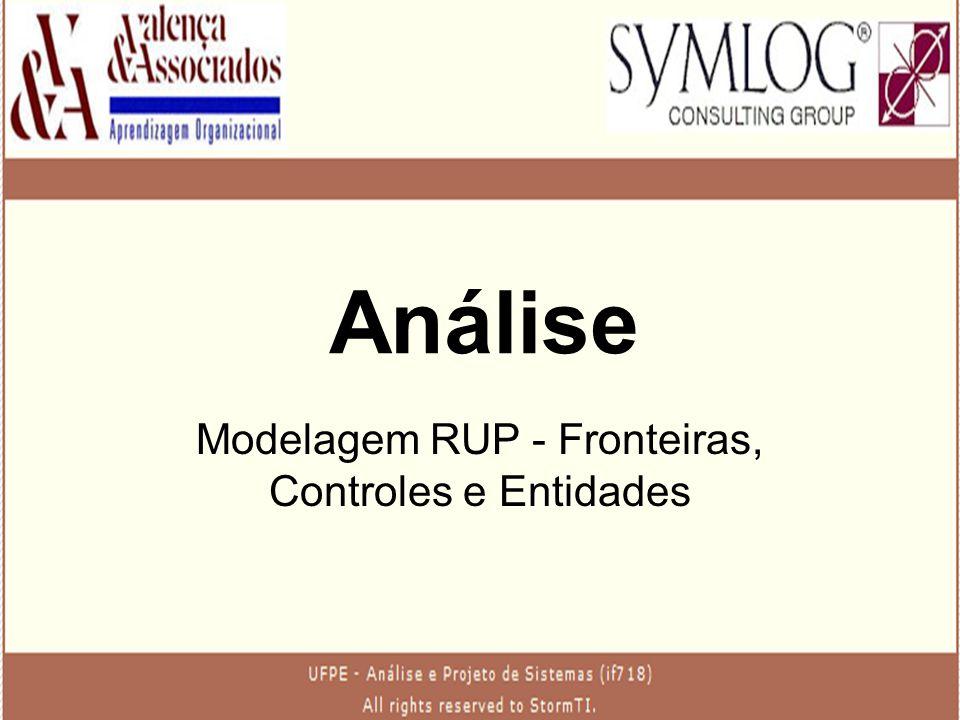 Análise Modelagem RUP - Fronteiras, Controles e Entidades