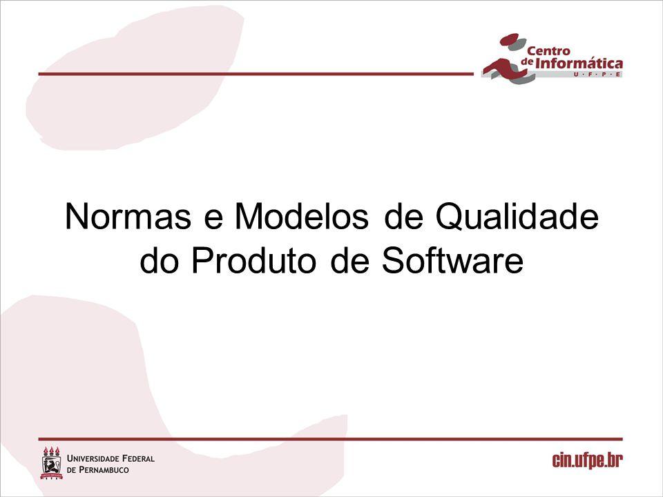 18/09/20086 A ISO e a IEC elaboraram um conjunto de normas que tratam sobre a atual padronização mundial para a qualidade de produtos de software: –ISO/IEC 9126 »Características de qualidade de software –ISO/IEC 14598 »Guias para Avaliação de Produto de Software –ISO/IEC 12119 »Requisitos de Qualidade e Testes de Pacotes de Software