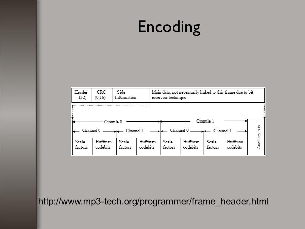 Encoding http://www.mp3-tech.org/programmer/frame_header.html