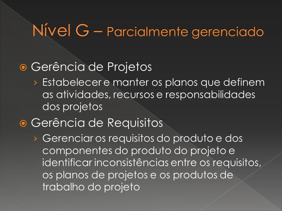  Gerência de Projetos › Estabelecer e manter os planos que definem as atividades, recursos e responsabilidades dos projetos  Gerência de Requisitos