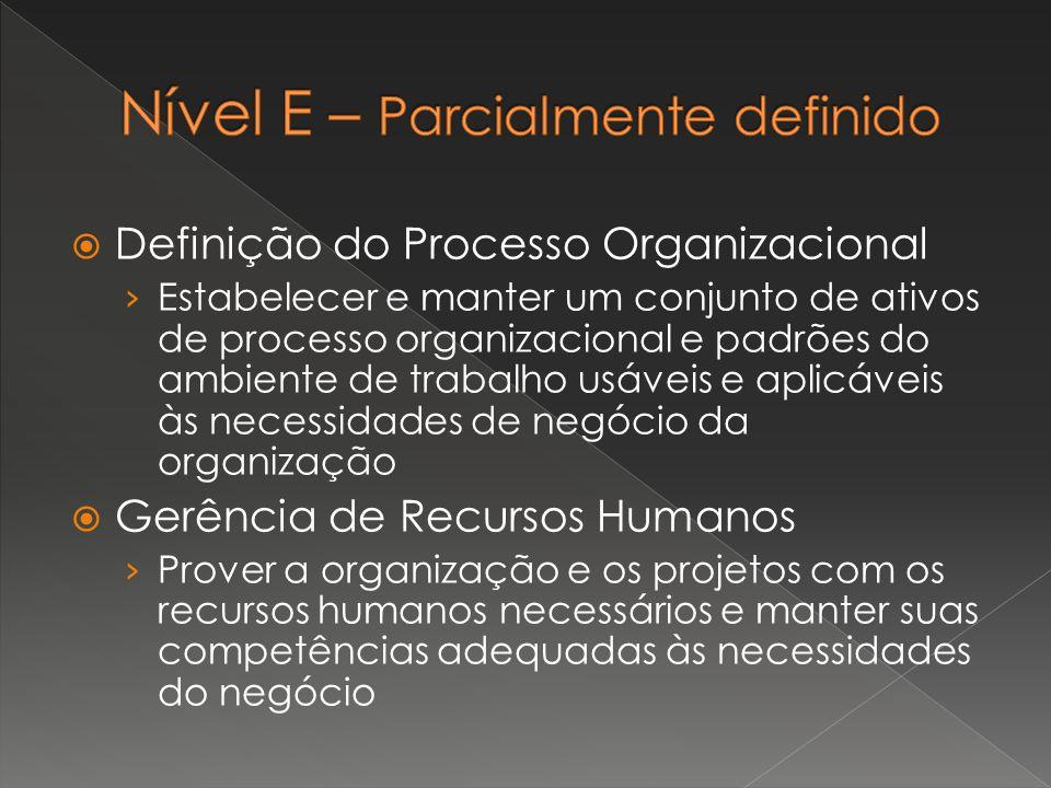  Definição do Processo Organizacional › Estabelecer e manter um conjunto de ativos de processo organizacional e padrões do ambiente de trabalho usáve