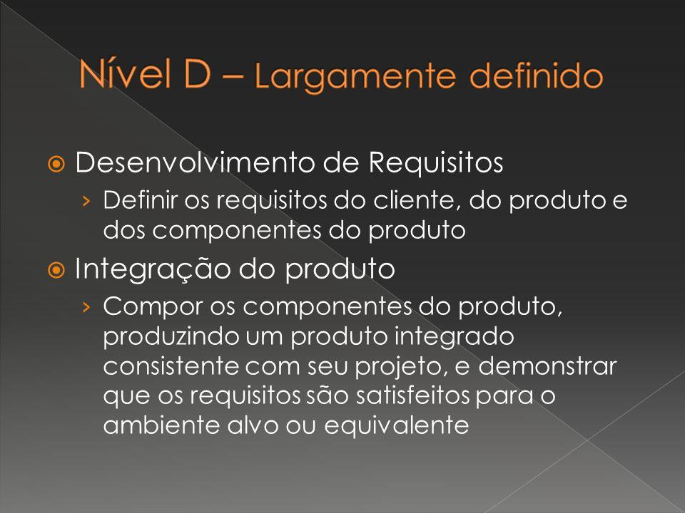 Desenvolvimento de Requisitos › Definir os requisitos do cliente, do produto e dos componentes do produto  Integração do produto › Compor os compon