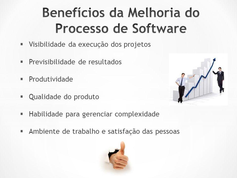  Visibilidade da execução dos projetos  Previsibilidade de resultados  Produtividade  Qualidade do produto  Habilidade para gerenciar complexidade  Ambiente de trabalho e satisfação das pessoas