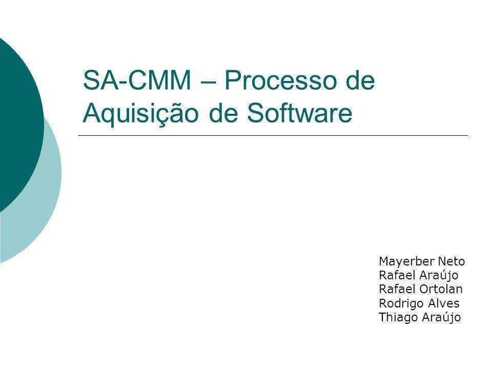 SA-CMM – Processo de Aquisição de Software Mayerber Neto Rafael Araújo Rafael Ortolan Rodrigo Alves Thiago Araújo