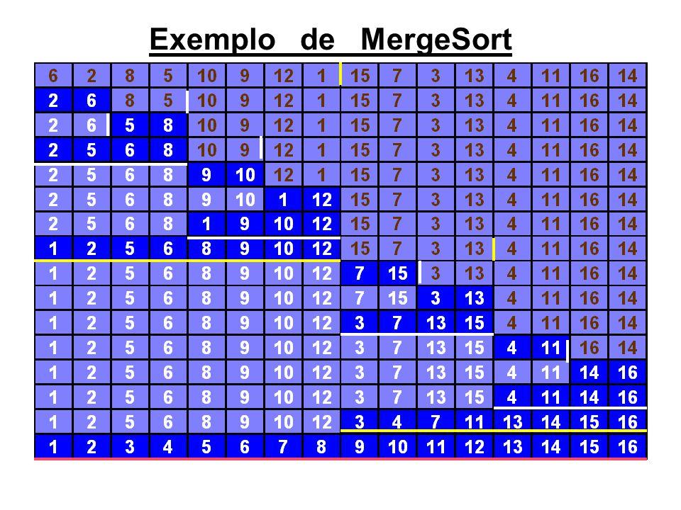 8 Exemplo de MergeSort