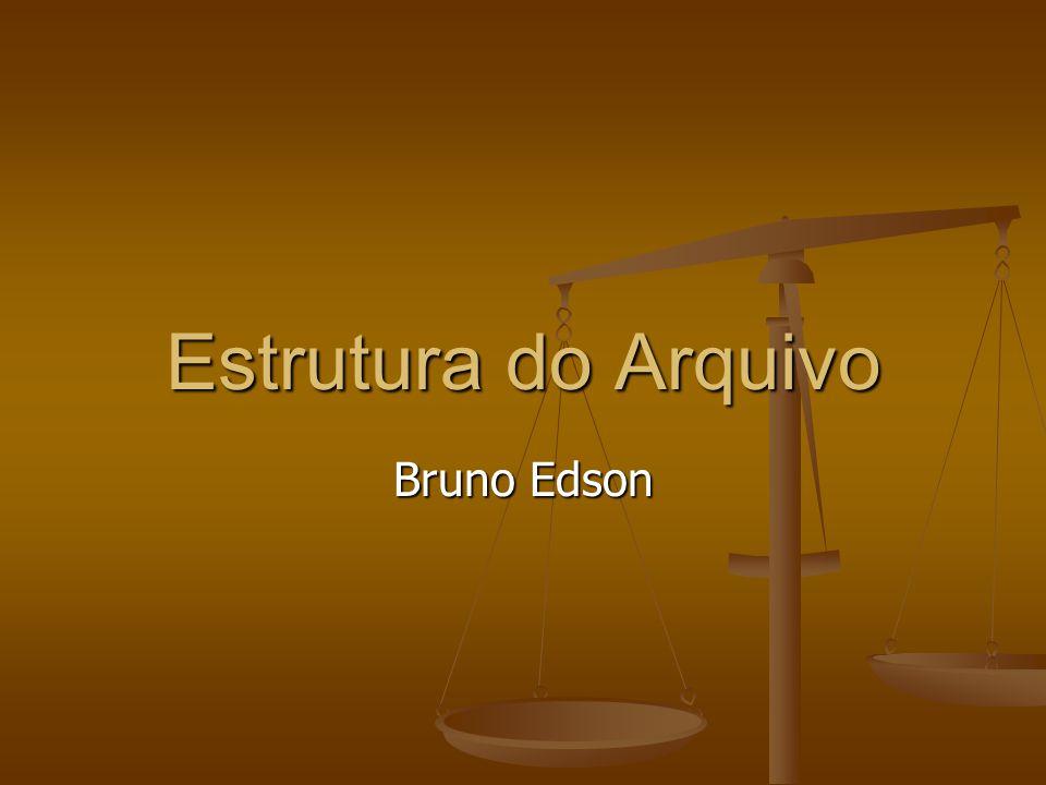 Estrutura do Arquivo Bruno Edson