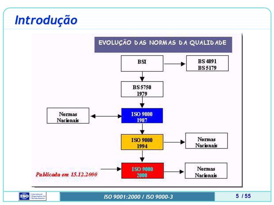 6 / 55 ISO 9001:2000 / ISO 9000-3 Introdução Fonte : http://www.abntcb25.com.br/cert9000.html http://www.abntcb25.com.br/cert9000.html Acessado: 22/11/05