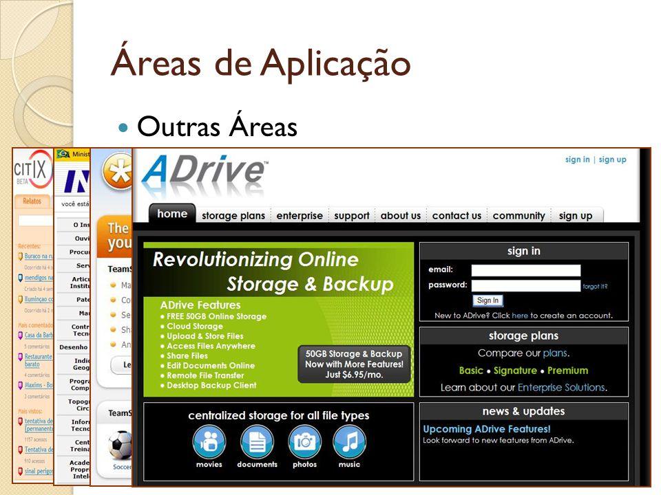 Áreas de Aplicação Outras Áreas