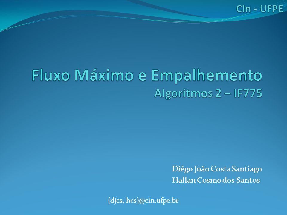 O Problema Fluxo Máximo O que é o problema de encontrar fluxo máximo.