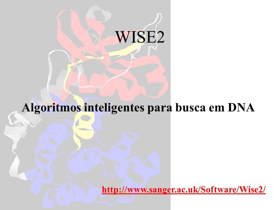 ESTWISE estwise protein.pep singleest.fa compara uma seqüência proteica a uma de DNA estwise -hmmer pkinase.hmm singleest.fa compara uma seqüência proteica (HMM) a uma de DNA