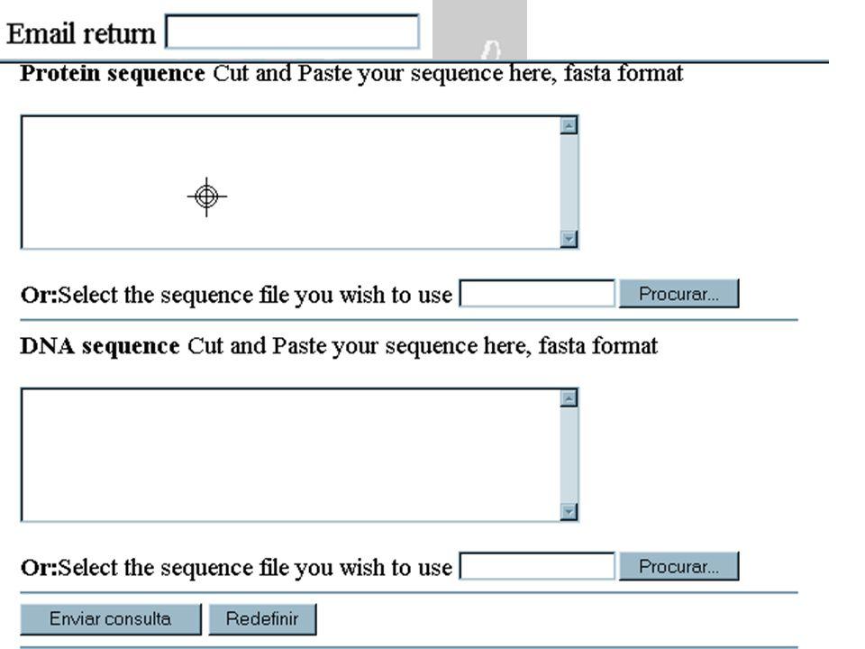 Concorrentes: BLAST package ( NCBI) Sequence Searching Fasta package (Bill Pearson) Sequence Searching SAM package (UC Santa Cruz) HMM HMMER package (Sean Eddy) HMM Os HMMER e Pfam podem ser classificados como parceiros !!