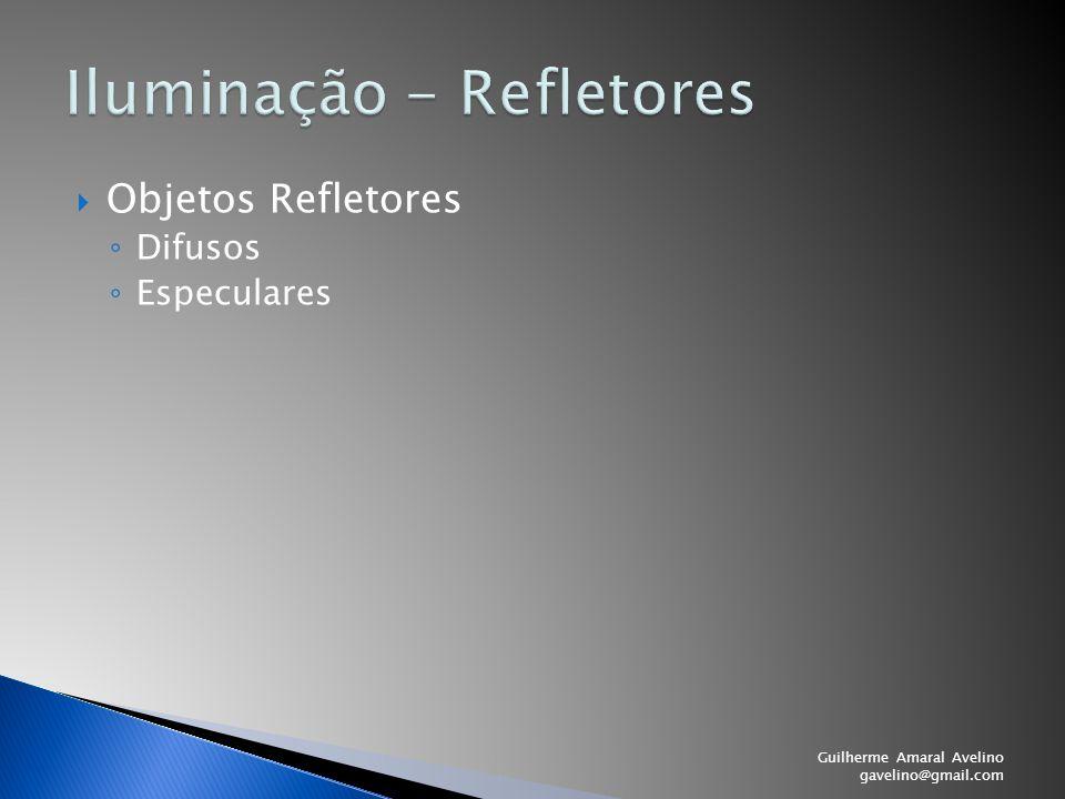  Objetos Refletores ◦ Difusos ◦ Especulares Guilherme Amaral Avelino gavelino@gmail.com