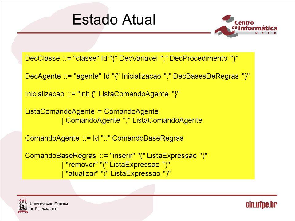 Estado Atual DecClasse ::=