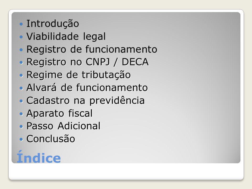 Referências Sebrae ◦Serviço Brasileiro de Apoio às Micro e Pequenas Empresas Receita Federal ◦http://www.receita.fazenda.gov.brhttp://www.receita.fazenda.gov.br DNRC ◦Departamento Nacional de Registro do Comércio ◦http://www.dnrc.gov.brhttp://www.dnrc.gov.br